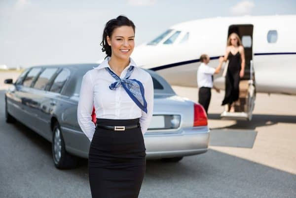 Business vlucht in private jet